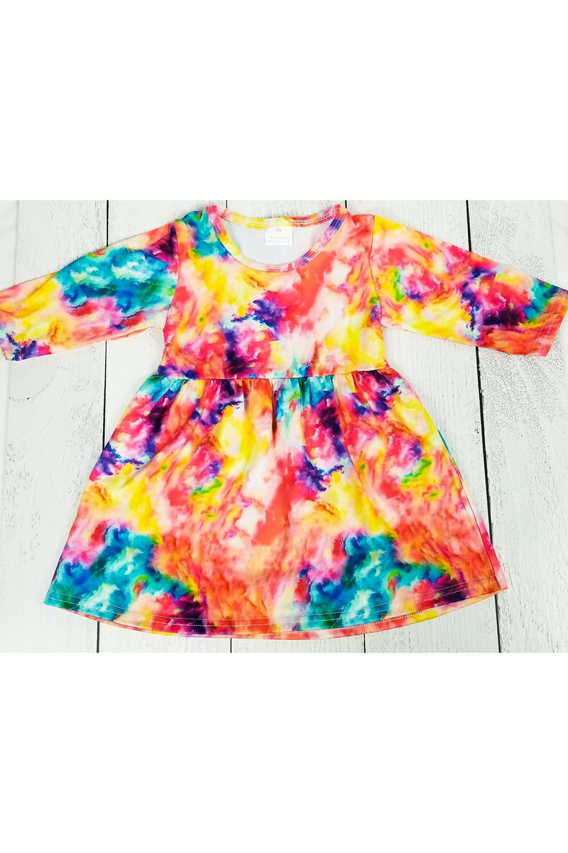 Sunburst Explosion Tie-Dye Dress (4749068632153)