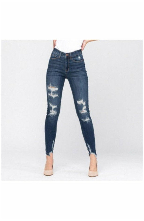 Judy Blue High Rise Cropped Skinny Jeans (4725148057689)