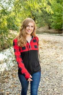 Buffalo Half Zip | Black and Red (4726530474073)