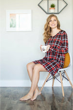 Lounge Dress | Back and Red Plaid (4749417939033)