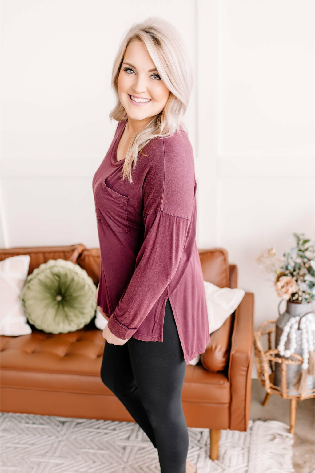 Cranberry Snap Cardigan (4743043809369)