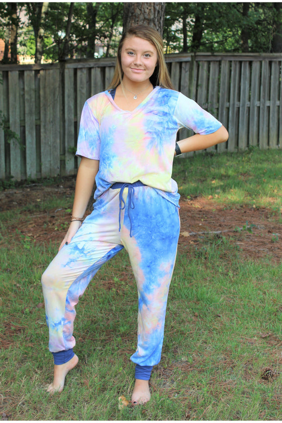 Accent Joggers | Tie Dye at Dusk (4724290388057)