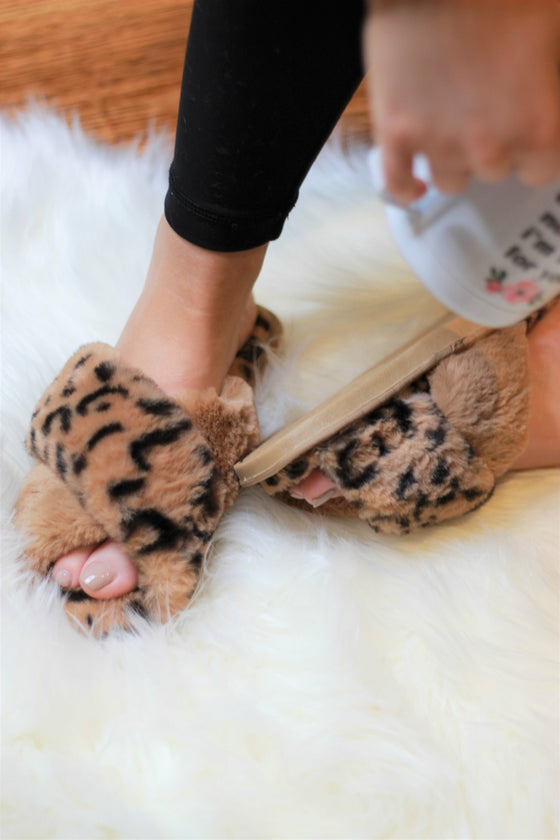 Ultra Fuzzy Animal Print House Shoes (Ready to Ship)