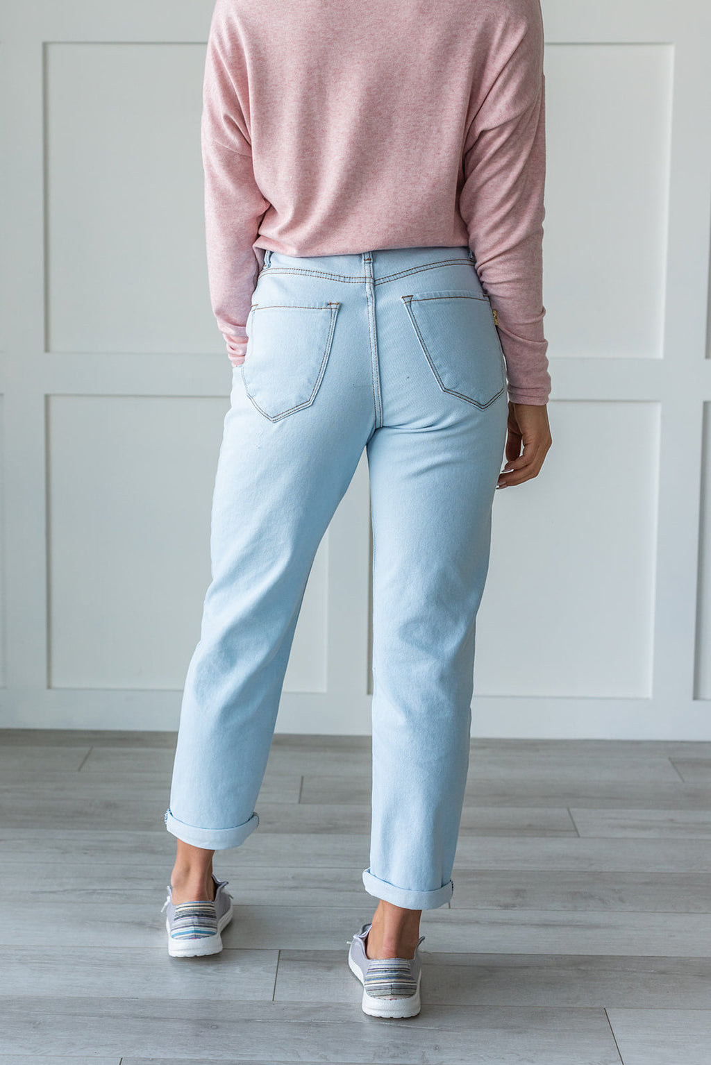 On The Go Light Wash Jeans