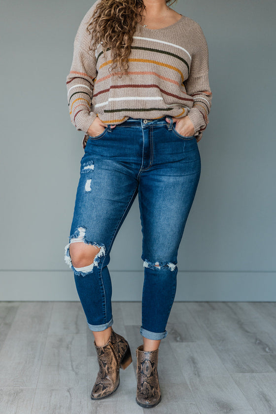 Bring You Joy KanCan Distressed Skinny Jeans (Ready to Ship) (4761120931929)