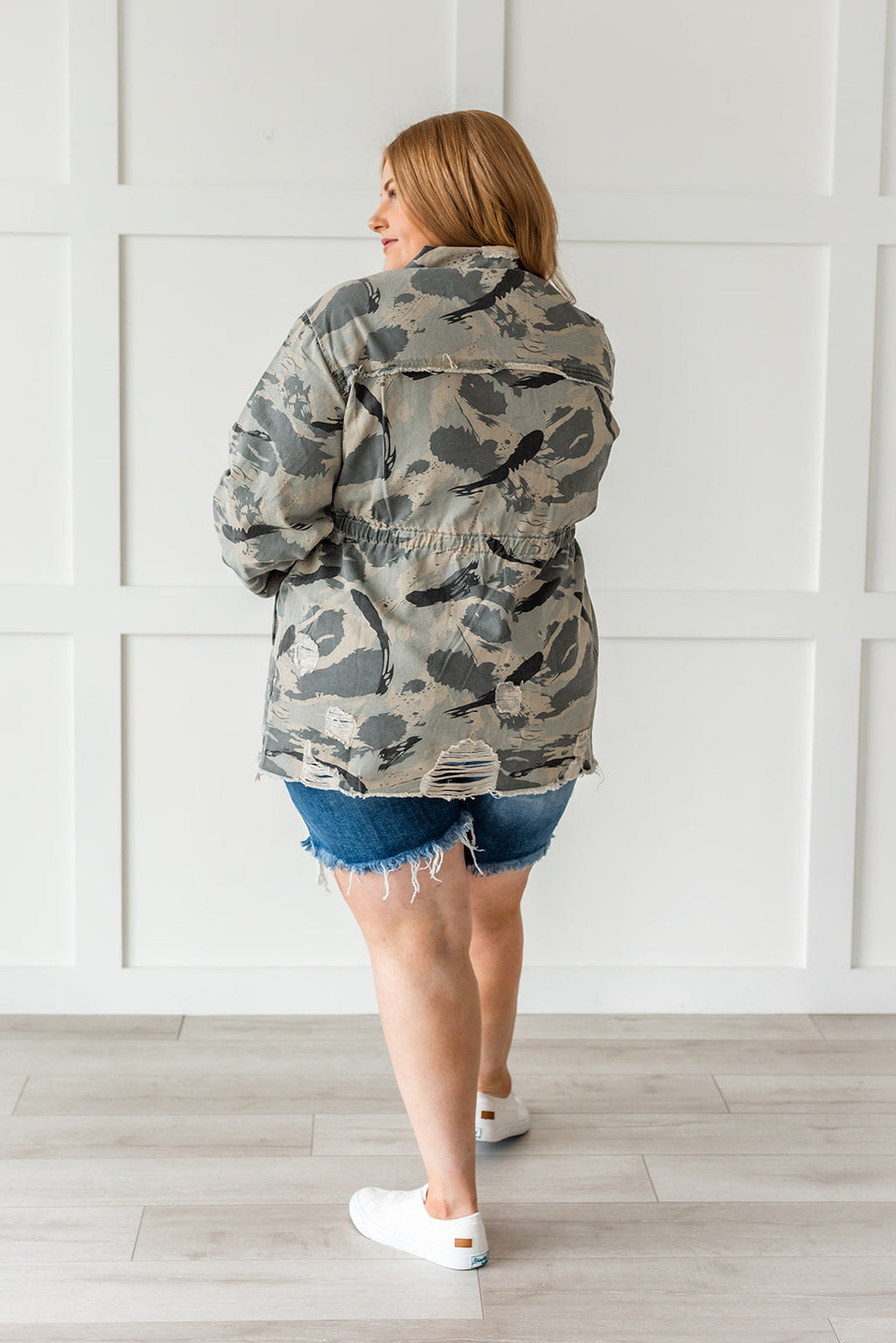 Sweet Camo Twill Jacket- Plus