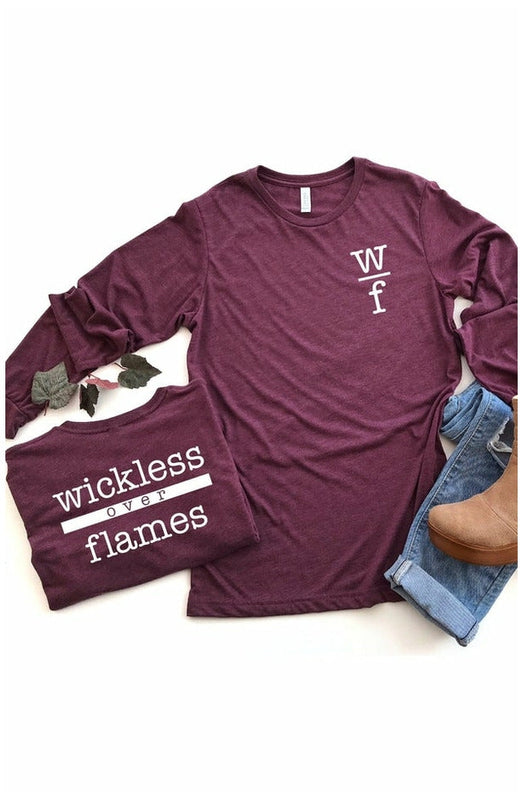 Wickless over Flames Bella+Canvas uni-sex long sleeve tee
