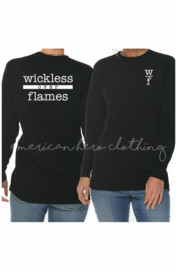 Wickless over Flames Uni-sex Long Sleeve Tee (4771936534617)