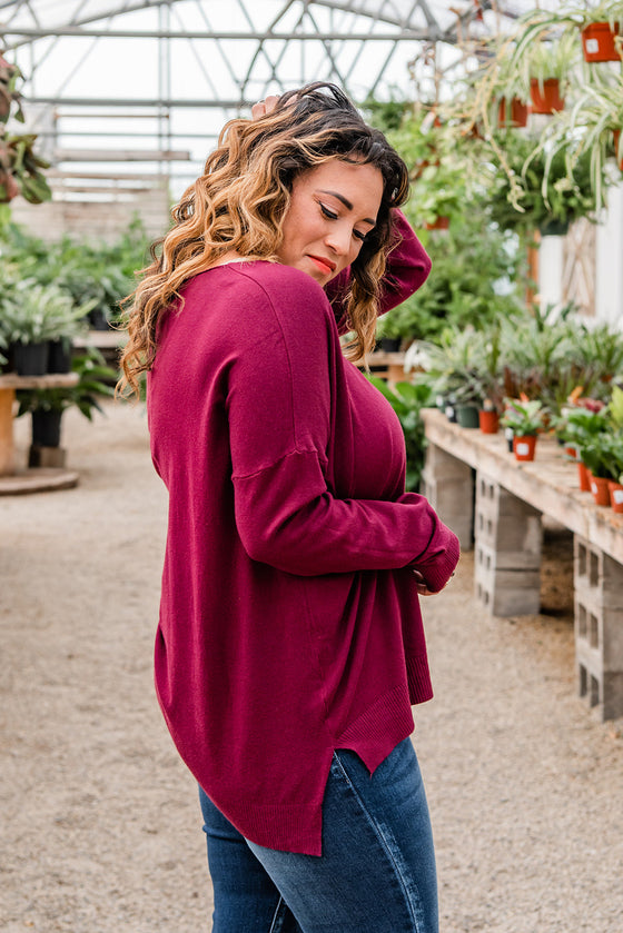 Recognized Perfection Sweater- Wine (4738456289369)
