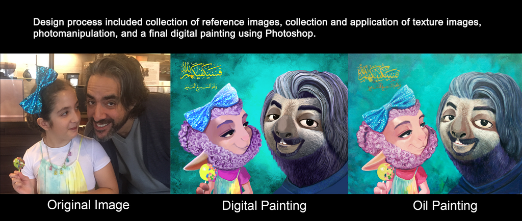 Description of digital alteration process for photograph to painting