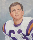 Custom Watercolor painting of football player.