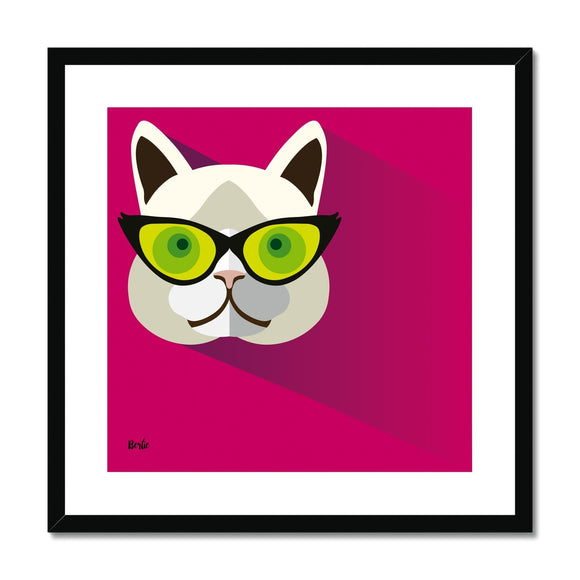 Bernie Cat Framed & Mounted Print