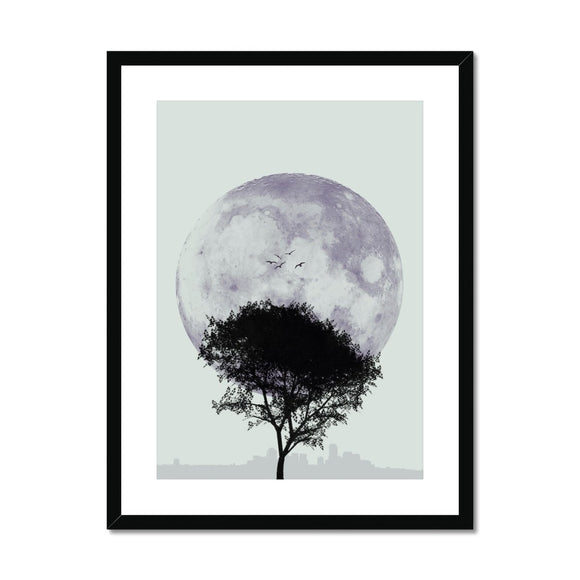 Tree and Moon Twilight - Rowdy Space
