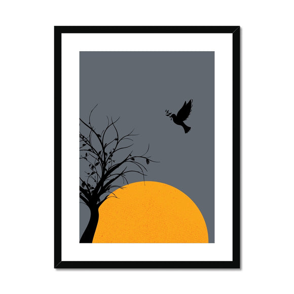 Black Dove Framed & Mounted Print