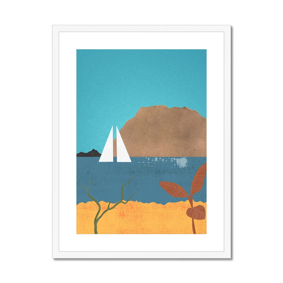 Sailing Boat Framed & Mounted Print