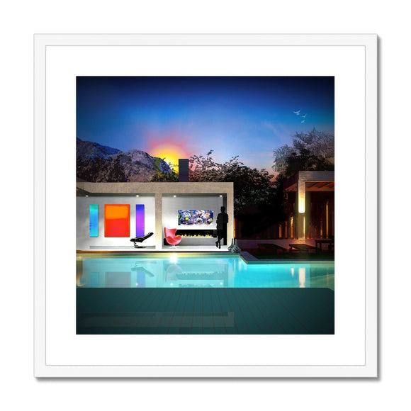 Comfort Zone Swimming Pool Framed & Mounted Print