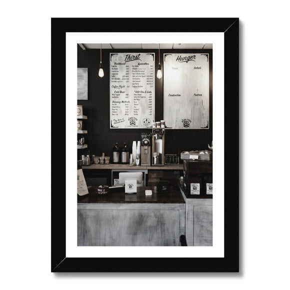Coffee Shop Menu Framed Print