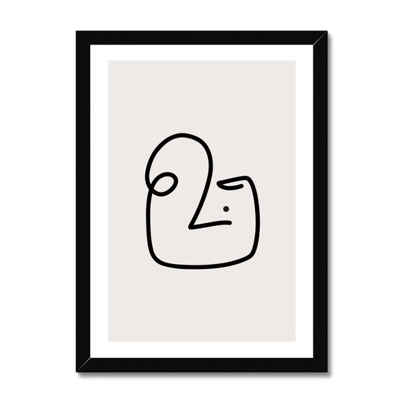 Line Art Tim Framed Print