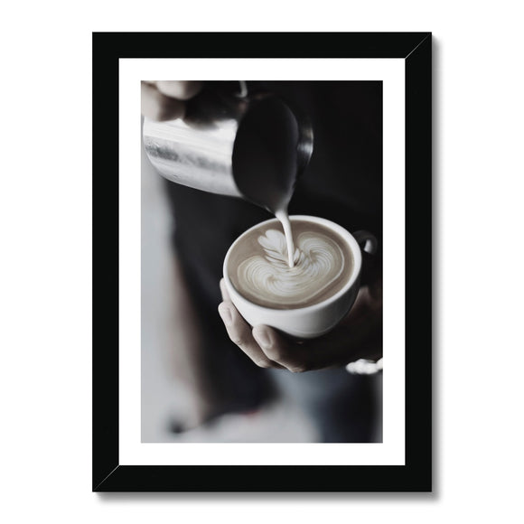Barista Magic Framed Print
