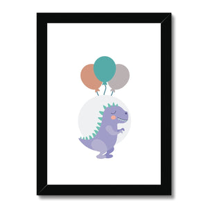 Cute Dino Framed Print