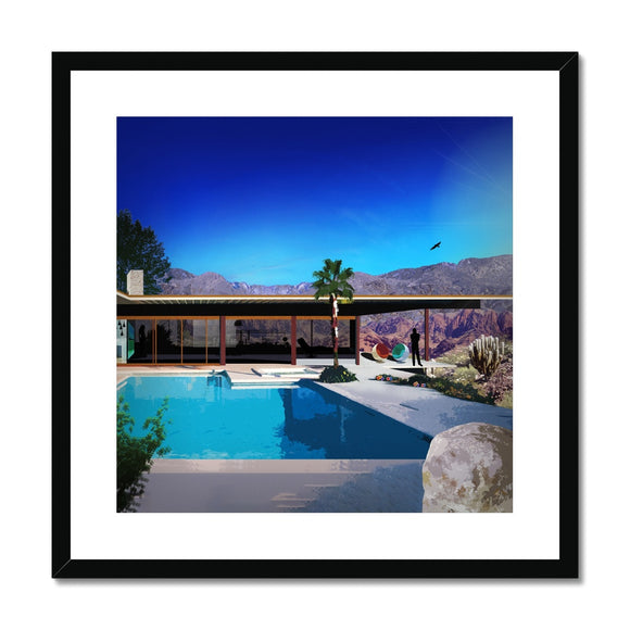 Comfort Zone Desert House Framed & Mounted Print