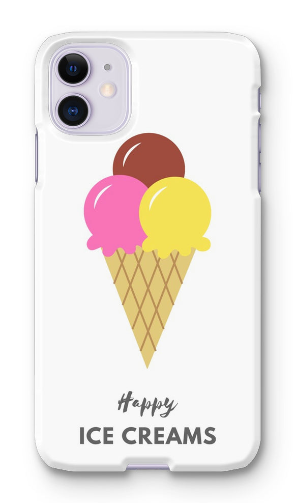 Happy Ice Creams Pink & Yellow Phone Case