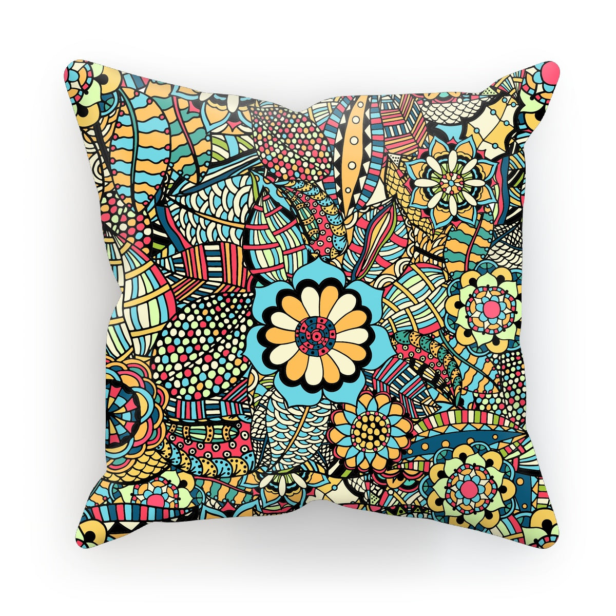 Multi Flower Shapes Two Cushion
