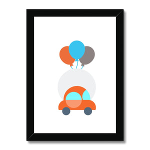 Red Toy Car Framed Print