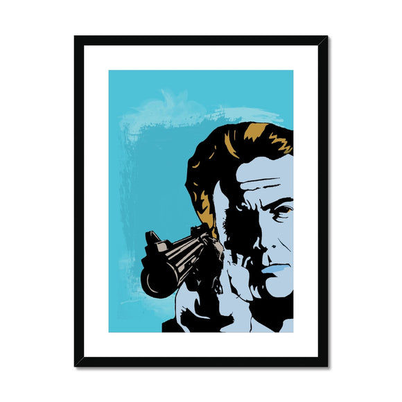 Dirty Harry Blue Framed & Mounted Print