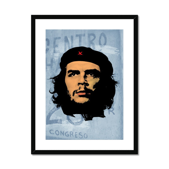 Che Grey Framed & Mounted Print