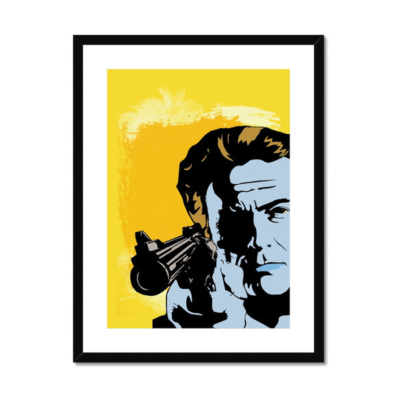 Dirty Harry Yellow Framed & Mounted Print