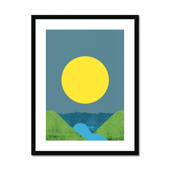 Lemon Sun Framed & Mounted Print
