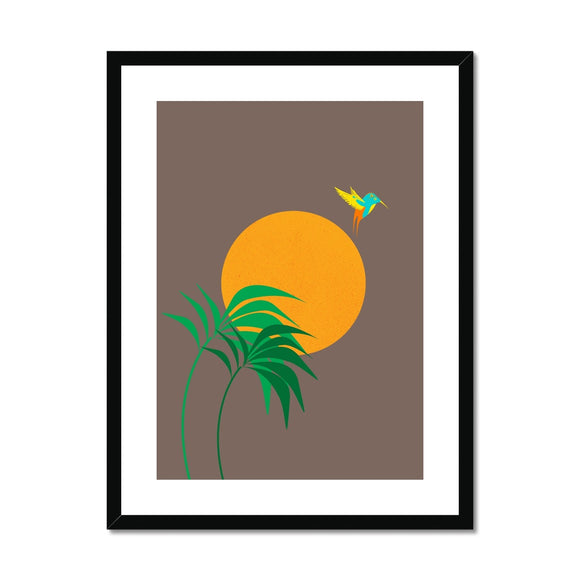 Hummingbirds Framed & Mounted Print