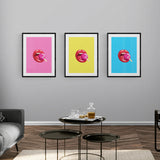 Lollipop Lips Pink Framed & Mounted Print