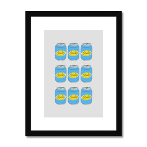 Soda Cans Framed & Mounted Print