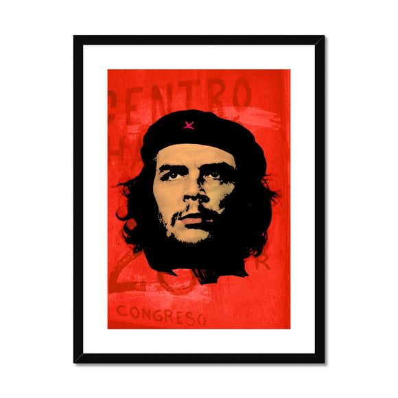Che Red Framed & Mounted Print