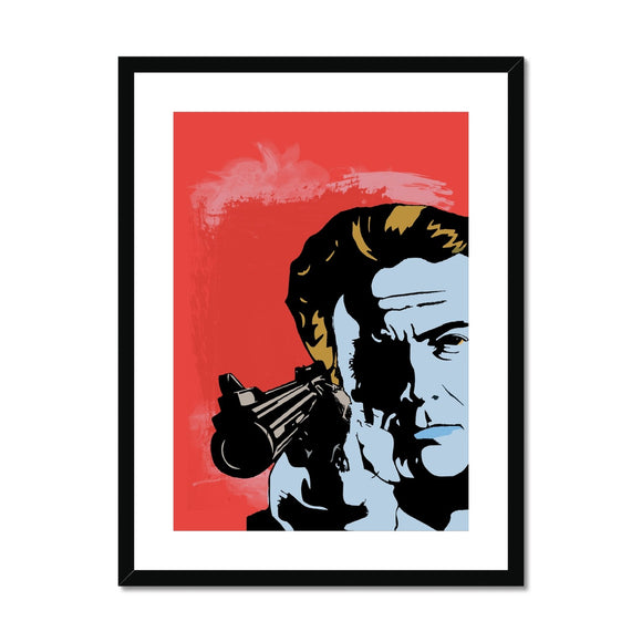 Dirty Harry Red Framed & Mounted Print