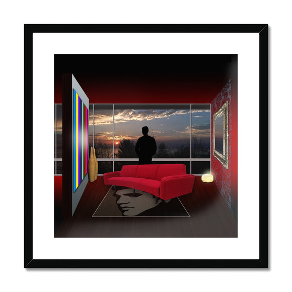 Comfort Zone Elvis House Framed & Mounted Print