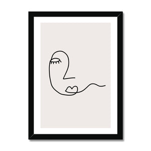Line Art Hope Framed Print