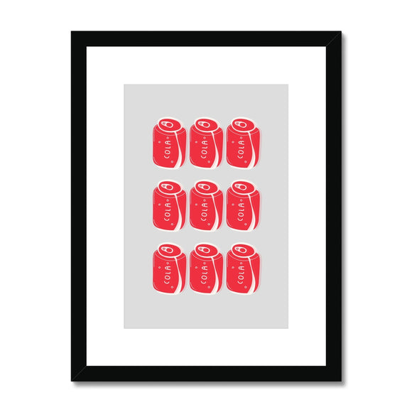 Cola Cans Framed & Mounted Print