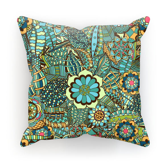 Multi Flower Shapes One Cushion