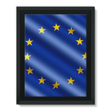 Waving Eu European Flag Framed Canvas Wall Decor Flagdesignproducts.com