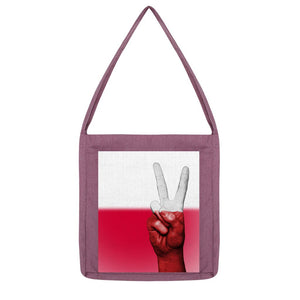 Poland Fingers Flag Tote Bag Accessories Flagdesignproducts.com