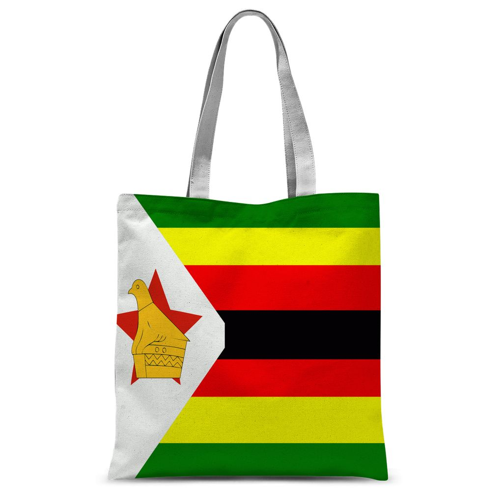 Flag Of Zimbabwe Sublimation Tote Bag Accessories Flagdesignproducts.com