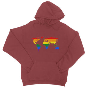 Rainbow Lgbtq World Map College Hoodie Apparel Flagdesignproducts.com