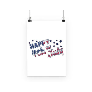 4Th July Usa Text Flag Poster Wall Decor Flagdesignproducts.com