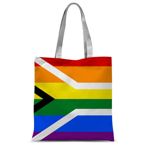 South African Rainbow Flag Sublimation Tote Bag Accessories Flagdesignproducts.com