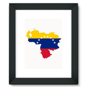 Venezuela Continent Flag Framed Fine Art Print Wall Decor Flagdesignproducts.com
