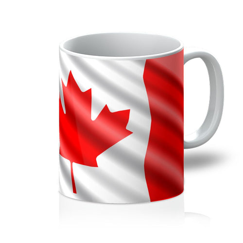 Canada Waving Flag Mug Homeware Flagdesignproducts.com