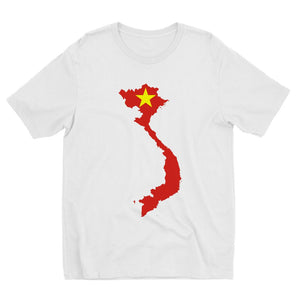 Vietnam Continent Flag Kids Sublimation T-Shirt Apparel Flagdesignproducts.com
